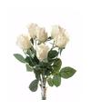 Witte kunst rozen boeket 38 cm