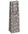 Brons glitter kadotasje met sterren 11 x 36 cm