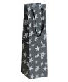 Zwart glitter kadotasje met sterren 11 x 36 cm