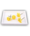 Rozen van satijn geel 12 cm