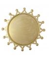Gouden zon onderzet bord 16 cm
