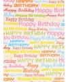 Cadeaupapier Happy Birthday 70 x 200 cm