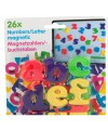 Magnetische letters gekleurd