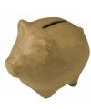 Papiermache spaarpot varken